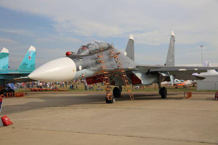 Tough-looking Russian military aircraft