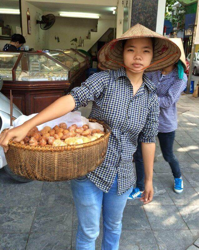 Bread lady in Hanoi