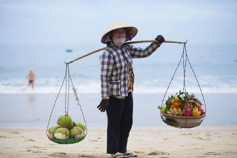Vendor on the beach