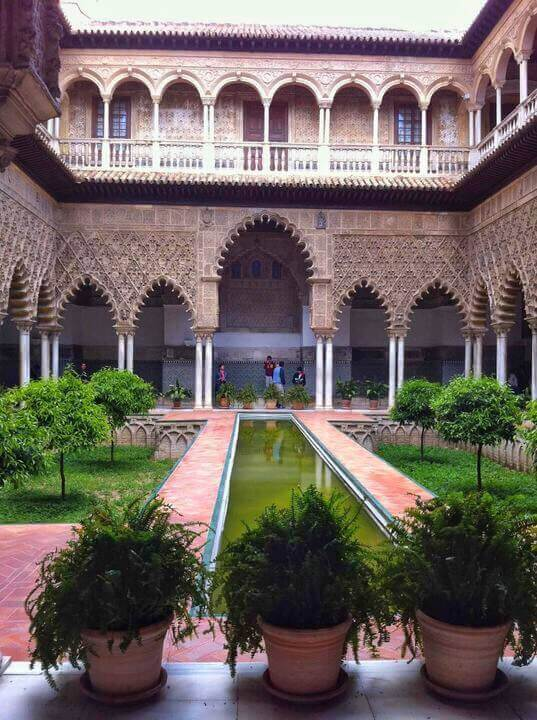The Alcázar of Seville patio