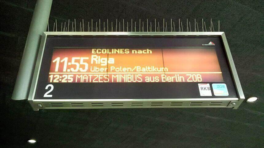 Riding a bus to Riga
